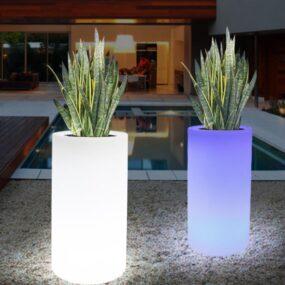 LED-lillepott-ümar