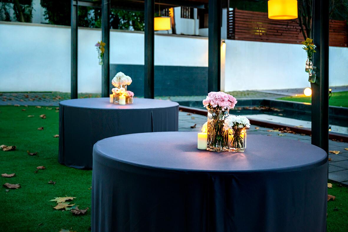 kokkupandav mööbel Q150 ümmargune laud